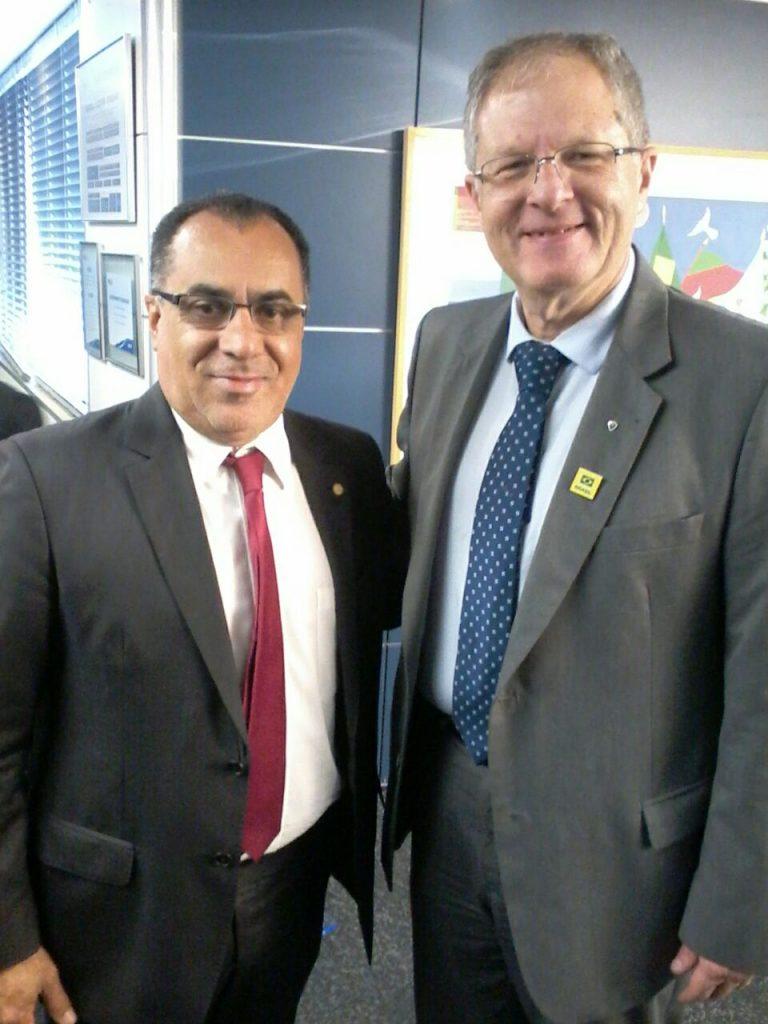 Celso Jacob e o Presidente do Botafogo, Carlos Eduardo Pereira